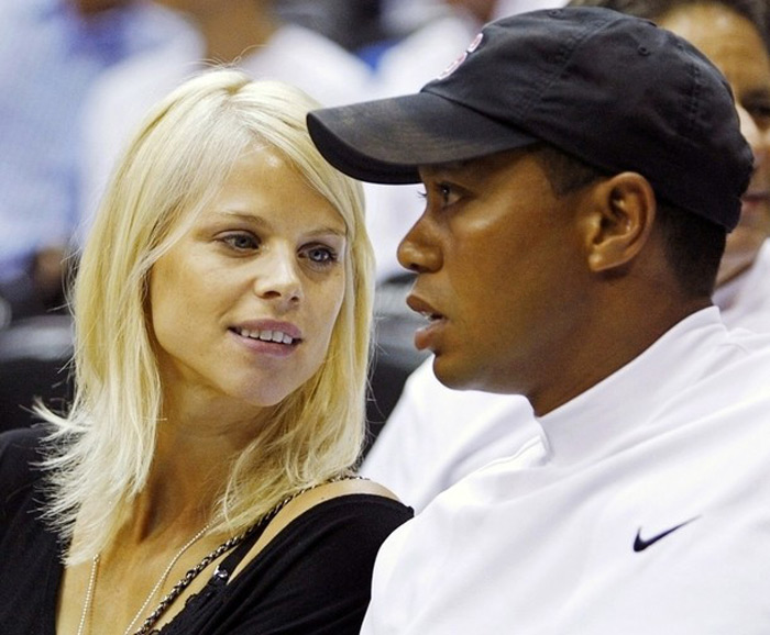 Tiger Woods with his former wife Elin Nordegren before the messy divorce