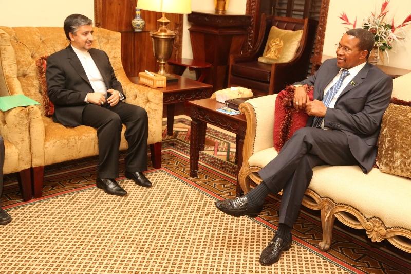 Kikwete with Iran Ambassador