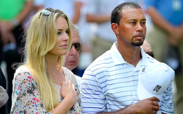 Tiger Woods (R) with his new 'flame' Lindsey Vonn