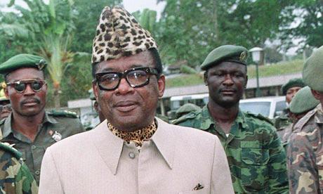 Mobutu Sese Seko (in Leopard Skin cap)