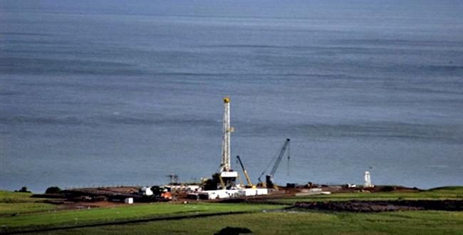 Lake Albert oil drill site on the Congo DRC site set by the British company Tullow