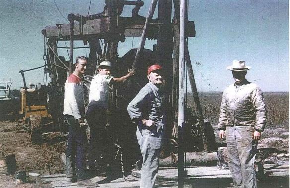 Oil Rig  in Wichita Falls, Texas (1965 Internet Photo)
