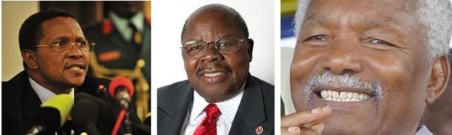 From Left: Current Tanzania President Jakaya Mrisho Kikwete, Retired President Benjamin William Mkapa and Second Phase President Ali Hassan Mwinyi