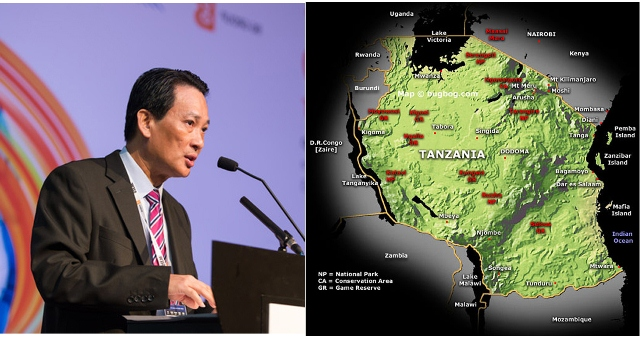 Illustrative Graphic: Seah Moon Ming (L), group chief executive officer of Pavilion Energy, looks at Tanzania where his company is investing $1.3 billion