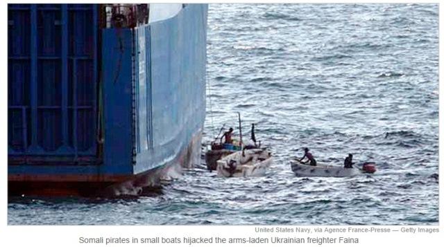 Pirates hijacking ship