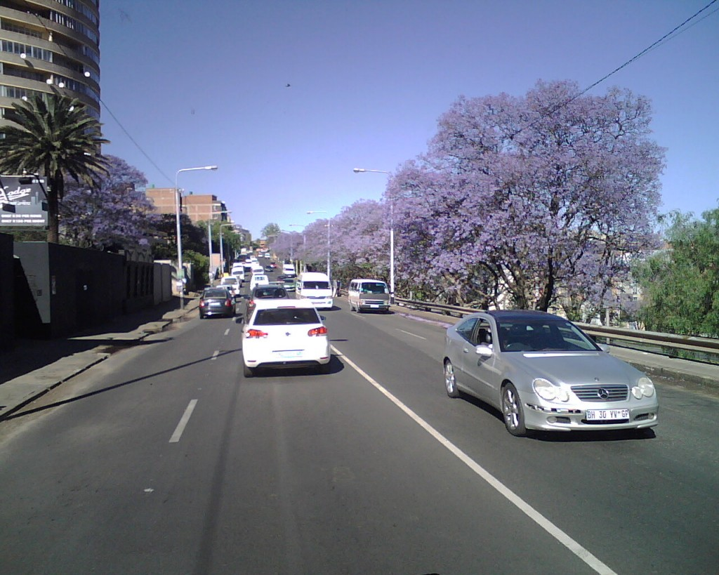 A street in Johannesburg today