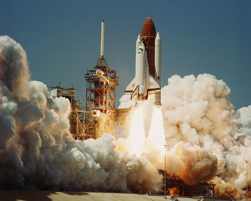Space Shuttle Challenger which exploded