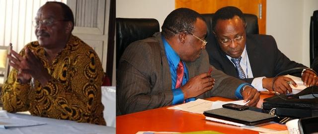 From Left: Professor Samuel Wangwe, Dr. Joseph Masawe, Dr. Charles Kimei