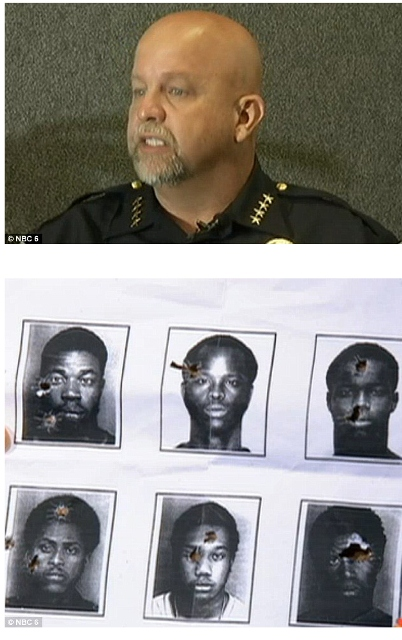 Above: North Miami Beach Police Chief J. Scott Dennis. Bottom: Black men at Florida target shooting range