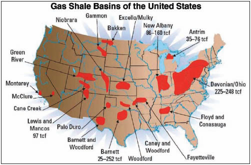 Working Interests Of An Oil And Gas Lease Mineral Marketing Tight - Us shale gas map