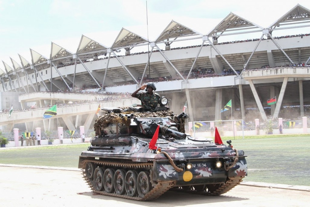 Tanzania displays Chinese made amphibious tank during 50th anniversary celebrations