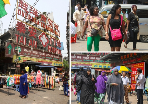 The overseas trading Mall in DengFeng village attracts hordes of African merchants