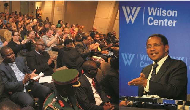 President Jakaya Kikwete addresses the Wilson Centre in USA