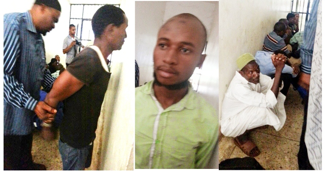 The unidentified terror suspects