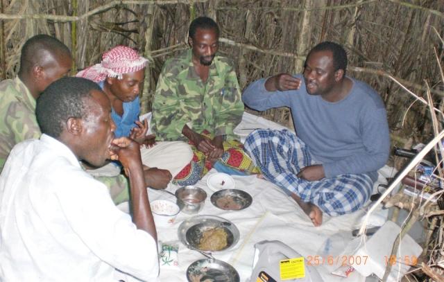 ADF leader James Mukulu with senior commanders in Eastern DRC. (Internet file photo)