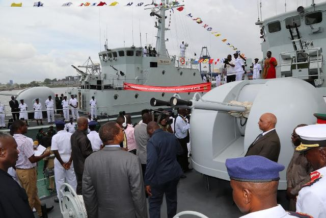 Tanzania commissions two war ships in April, 2015, made in China