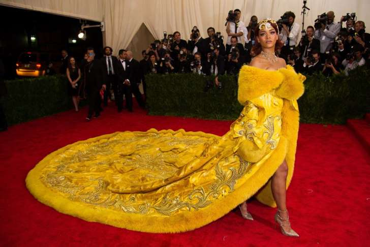 """© Provided by Quartz Rihanna arrives at The Metropolitan Museum of Art's Costume Institute benefit gala celebrating """"China: Through the Looking Glass"""" on Monday, May 4, 2015, in New York."""