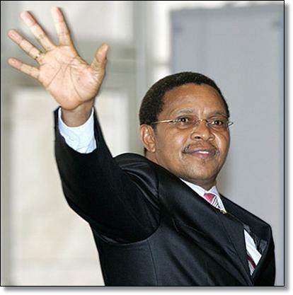 The out-going President Jakaya Mrisho Kikwete