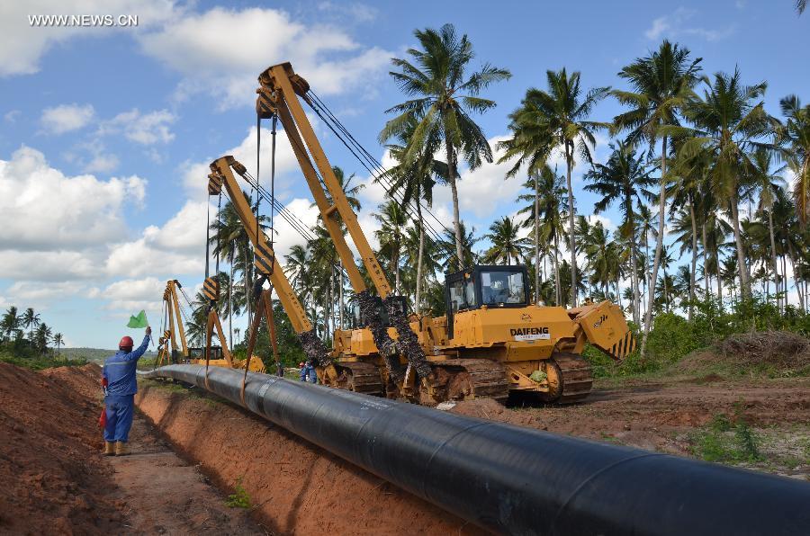 Gas Pipeline from Mtwara to Dar es Salaam under construction