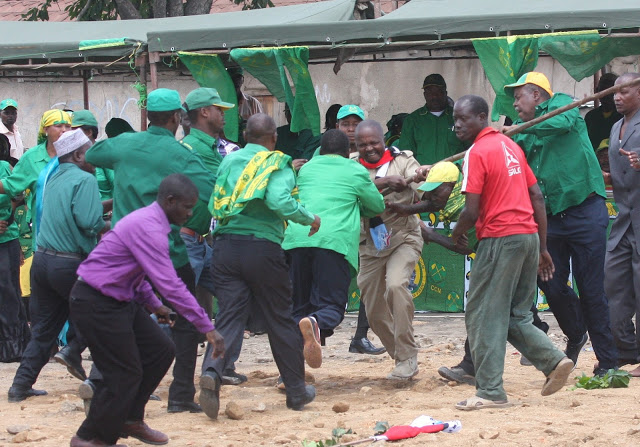 Green Guards Versus Red Brigade: scurfle errupt during a by-election in Tabora two years ago.