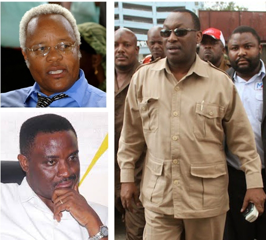 Top Left: Chadema Presidential Candidate Edward Ngoyai Lowassa. Botton Left: Chadema Director of Intelligence and Security Wilfred Lwakatare. Right: CHADEMA Chairman Freeman Aikaeli Mbowe.