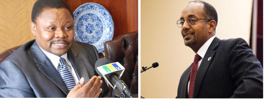 From Left: TANESCO Managing Director Eng. Felchesmi Mramba and PTA Bank President Admassu Tadesse (Internet Photos)