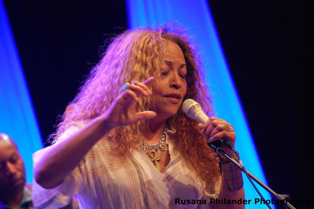 Cassandra Wilson performs at Cape Town International Jazz Festival