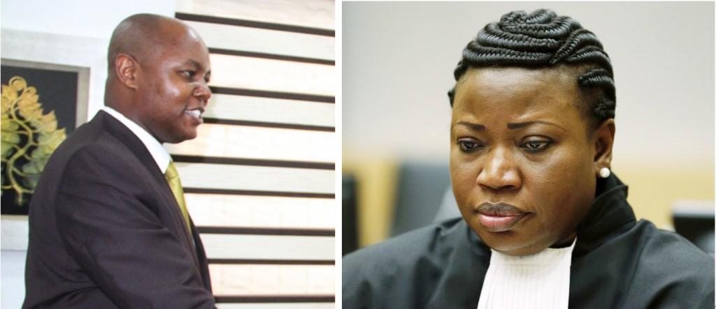 From Left: Acting Burundi Ambassador to Tanzania, Préféré Ndayishimiye, and Prosecutor of the International Criminal Court, Fatou Bensouda.