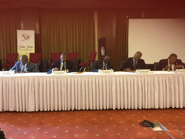 EAC central bank governors in Kampala, Uganda July 14, 2016