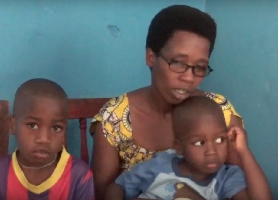 The Victim's wife, Godeberthe Hakiziman with children