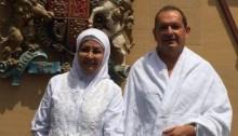 British Ambassador Simon Collins with Muslim wife Huda Mujarkesh