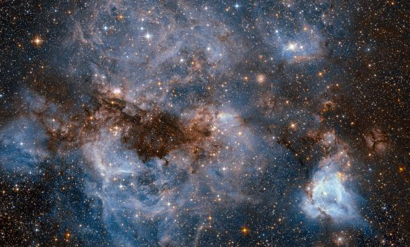 Faster propulsion technology would allow us to visit our galactic neighbors, like this satellite of the Milky Way known as the Large Magellanic Cloud. PHOTOGRAPH BY NASA, ESA