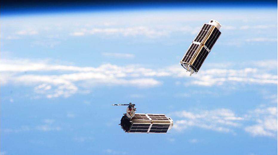 Nano Sats: A NASA Illustrative photo of micro satellites in space